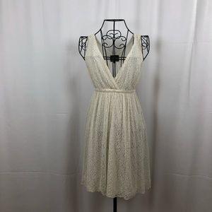Angie V-neck lace filly line dress S